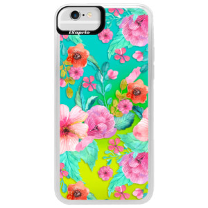 Neonové pouzdro Blue iSaprio Flower Pattern 01 na mobil Apple iPhone 6/6S
