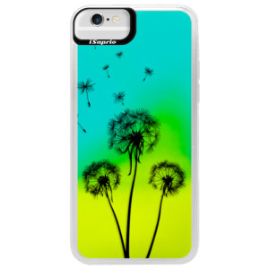 Neonové pouzdro Blue iSaprio Three Dandelions black na mobil Apple iPhone 6/6S