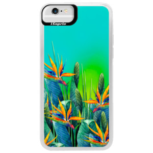 Neonové pouzdro Blue iSaprio Exotic Flowers na mobil Apple iPhone 6/6S