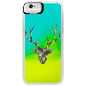 Neonové pouzdro Blue iSaprio Deer Green na mobil Apple iPhone 6/6S
