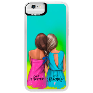 Neonové pouzdro Blue iSaprio Best Friends na mobil Apple iPhone 6/6S
