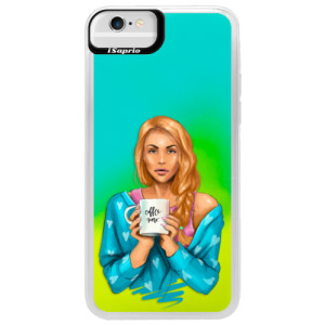 Neonové pouzdro Blue iSaprio Coffe Now Redhead na mobil Apple iPhone 6/6S