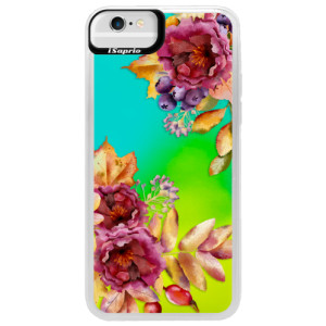 Neonové pouzdro Blue iSaprio Fall Flowers na mobil Apple iPhone 6/6S
