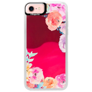Neonové pouzdro Pink iSaprio Flower Brush na mobil Apple iPhone 7