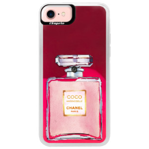Neonové pouzdro Pink iSaprio Chanel Rose na mobil Apple iPhone 7