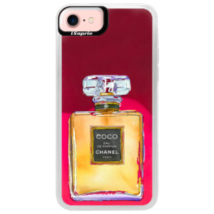 Neonové pouzdro Pink iSaprio Chanel Gold na mobil Apple iPhone 7