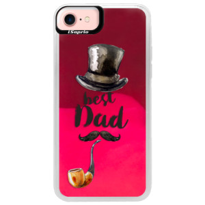 Neonové pouzdro Pink iSaprio Best Dad na mobil Apple iPhone 7