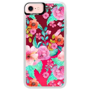 Neonové pouzdro Pink iSaprio Flower Pattern 01 na mobil Apple iPhone 7