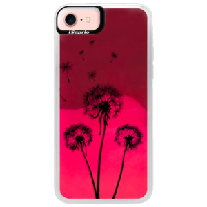 Neonové pouzdro Pink iSaprio Three Dandelions black na mobil Apple iPhone 7