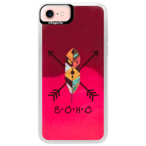 Neonové pouzdro Pink iSaprio BOHO na mobil Apple iPhone 7