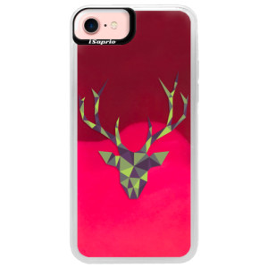 Neonové pouzdro Pink iSaprio Deer Green na mobil Apple iPhone 7