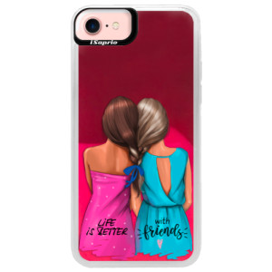 Neonové pouzdro Pink iSaprio Best Friends na mobil Apple iPhone 7