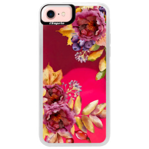 Neonové pouzdro Pink iSaprio Fall Flowers na mobil Apple iPhone 7