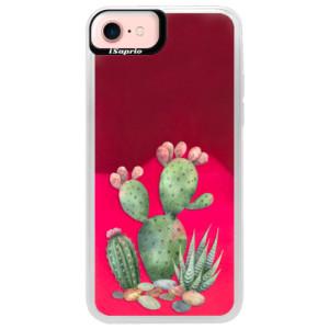Neonové pouzdro Pink iSaprio Cacti 01 na mobil Apple iPhone 7