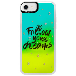 Neonové pouzdro Blue iSaprio Follow Your Dreams black na mobil Apple iPhone 7