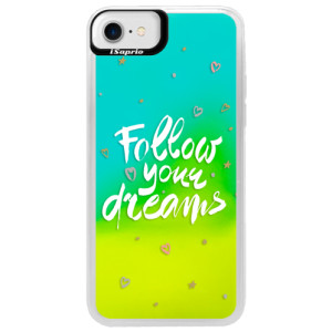 Neonové pouzdro Blue iSaprio Follow Your Dreams white na mobil Apple iPhone 7