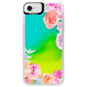 Neonové pouzdro Blue iSaprio Flower Brush na mobil Apple iPhone 7