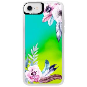 Neonové pouzdro Blue iSaprio Flower Pattern 04 na mobil Apple iPhone 7