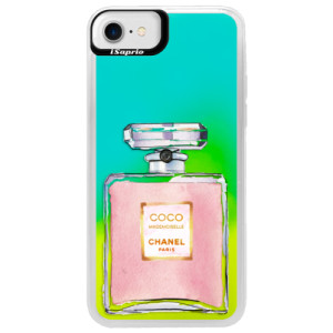 Neonové pouzdro Blue iSaprio Chanel Rose na mobil Apple iPhone 7