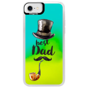 Neonové pouzdro Blue iSaprio Best Dad na mobil Apple iPhone 7