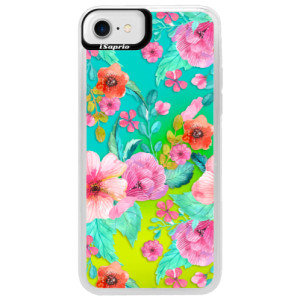 Neonové pouzdro Blue iSaprio Flower Pattern 01 na mobil Apple iPhone 7