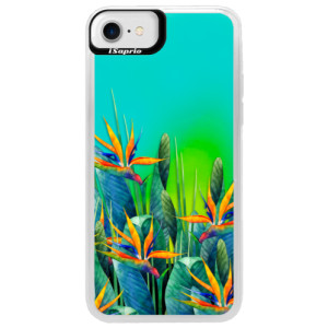 Neonové pouzdro Blue iSaprio Exotic Flowers na mobil Apple iPhone 7