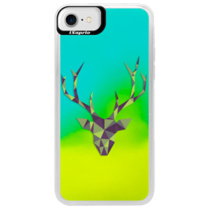 Neonové pouzdro Blue iSaprio Deer Green na mobil Apple iPhone 7