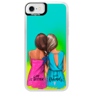 Neonové pouzdro Blue iSaprio Best Friends na mobil Apple iPhone 7
