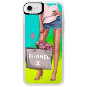 Neonové pouzdro Blue iSaprio Fashion Bag na mobil Apple iPhone 7