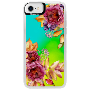 Neonové pouzdro Blue iSaprio Fall Flowers na mobil Apple iPhone 7