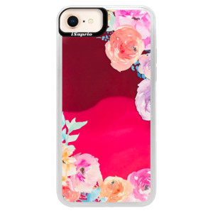 Neonové pouzdro Pink iSaprio Flower Brush na mobil Apple iPhone 8