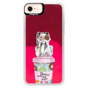 Neonové pouzdro Pink iSaprio Donut Worry na mobil Apple iPhone 8