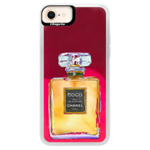 Neonové pouzdro Pink iSaprio Chanel Gold na mobil Apple iPhone 8