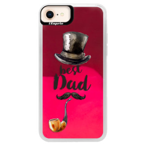 Neonové pouzdro Pink iSaprio Best Dad na mobil Apple iPhone 8
