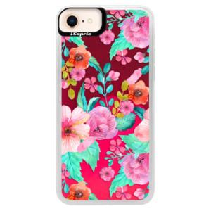 Neonové pouzdro Pink iSaprio Flower Pattern 01 na mobil Apple iPhone 8
