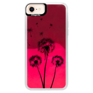 Neonové pouzdro Pink iSaprio Three Dandelions black na mobil Apple iPhone 8