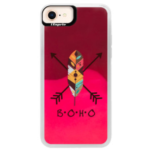 Neonové pouzdro Pink iSaprio BOHO na mobil Apple iPhone 8
