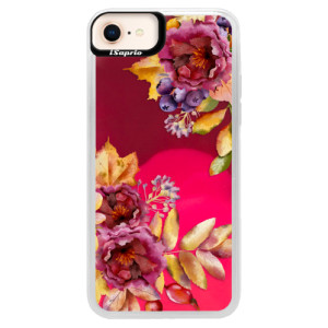 Neonové pouzdro Pink iSaprio Fall Flowers na mobil Apple iPhone 8