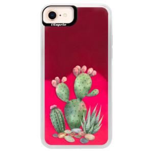 Neonové pouzdro Pink iSaprio Cacti 01 na mobil Apple iPhone 8