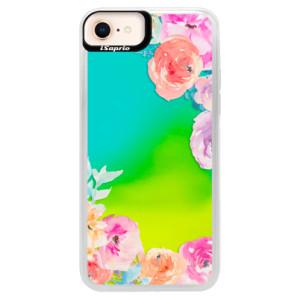 Neonové pouzdro Blue iSaprio Flower Brush na mobil Apple iPhone 8