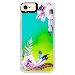 Neonové pouzdro Blue iSaprio Flower Pattern 04 na mobil Apple iPhone 8