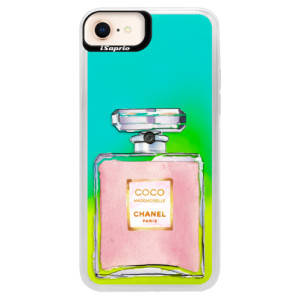 Neonové pouzdro Blue iSaprio Chanel Rose na mobil Apple iPhone 8