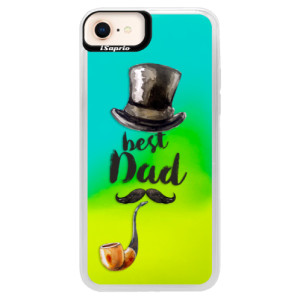 Neonové pouzdro Blue iSaprio Best Dad na mobil Apple iPhone 8