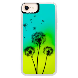 Neonové pouzdro Blue iSaprio Three Dandelions black na mobil Apple iPhone 8