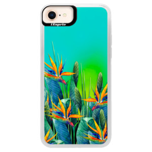 Neonové pouzdro Blue iSaprio Exotic Flowers na mobil Apple iPhone 8