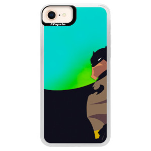 Neonové pouzdro Blue iSaprio BaT Comics na mobil iPhone 8