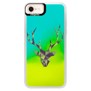 Neonové pouzdro Blue iSaprio Deer Green na mobil Apple iPhone 8