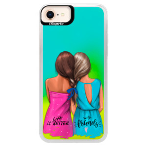 Neonové pouzdro Blue iSaprio Best Friends na mobil Apple iPhone 8