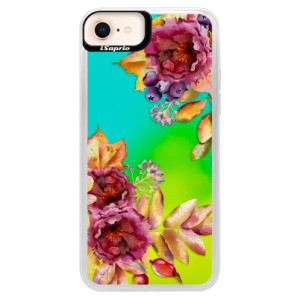 Neonové pouzdro Blue iSaprio Fall Flowers na mobil Apple iPhone 8