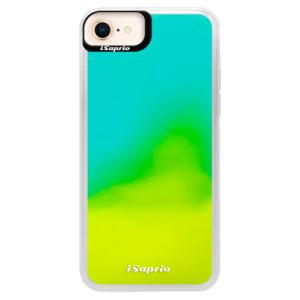 Neonové pouzdro Blue iSaprio 4Pure mléčné bez potisku na mobil iPhone 8